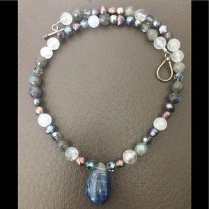 Beautiful Vintage Kyanite Sterling Necklace